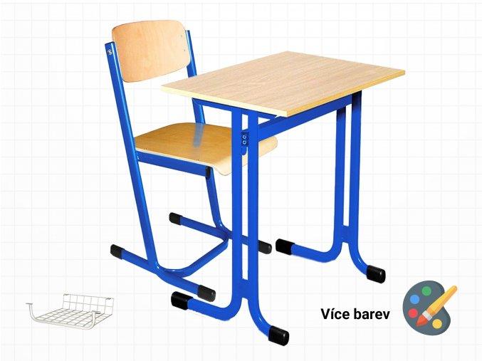 Školní lavice s židlí pro žáky základních a středních škol   Ressed