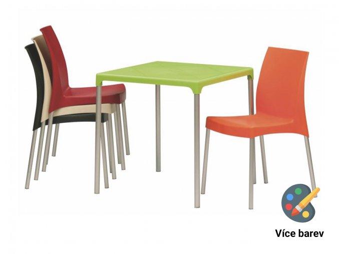 Plastový set 4 židlí a stolu do jídelen školek a škol | Ressed