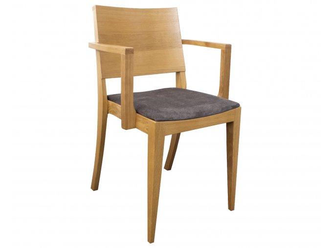 Čalouněná masivní židle z dubu s područkami do kulturních sálů | Ressed
