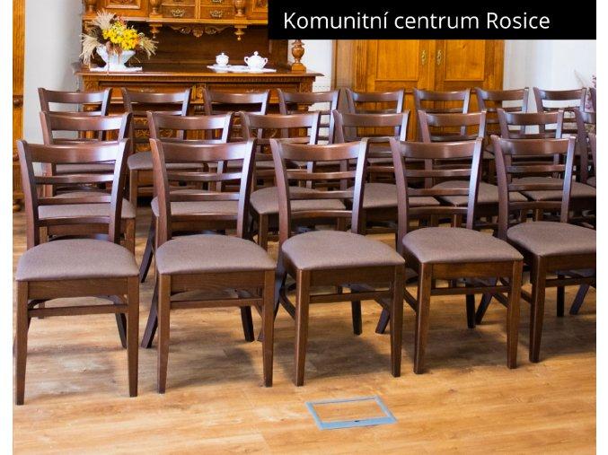 Odolná čalouněná židle do tradičních prostorů kulturního sálu | Ressed