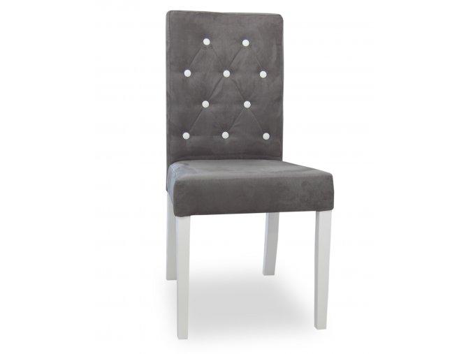 Designová prošitá židle s knoflíky