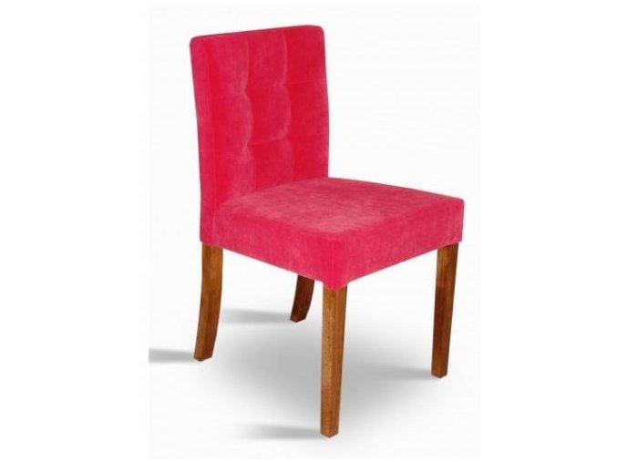 Designová prošitá židle se zeštíhleným sedákem, semišová