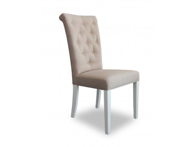 Designová prošitá židle Style, krémová - omyvatelná