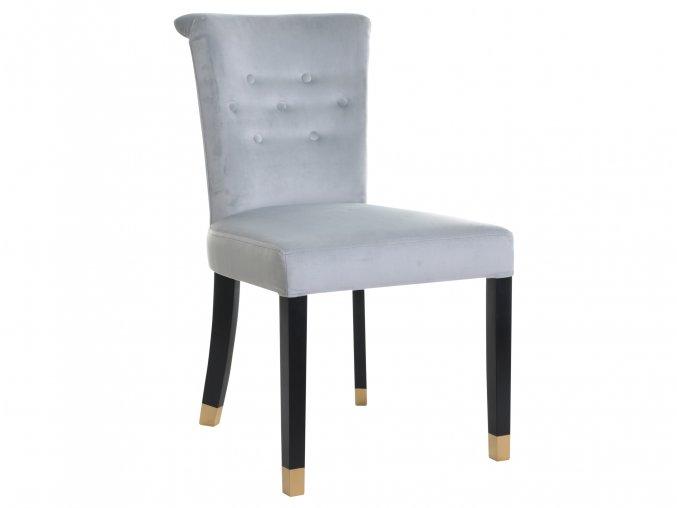 Designová židle Argor s klepadlem a připínáčky, stylová čalouněná