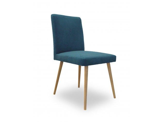 Designová židle Bergano, kulaté bukové nohy do roznožky