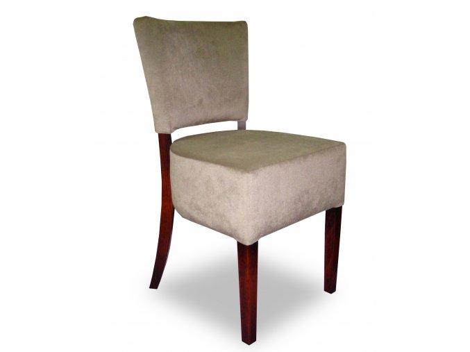 Designová židle Cannes, nízká, béžová