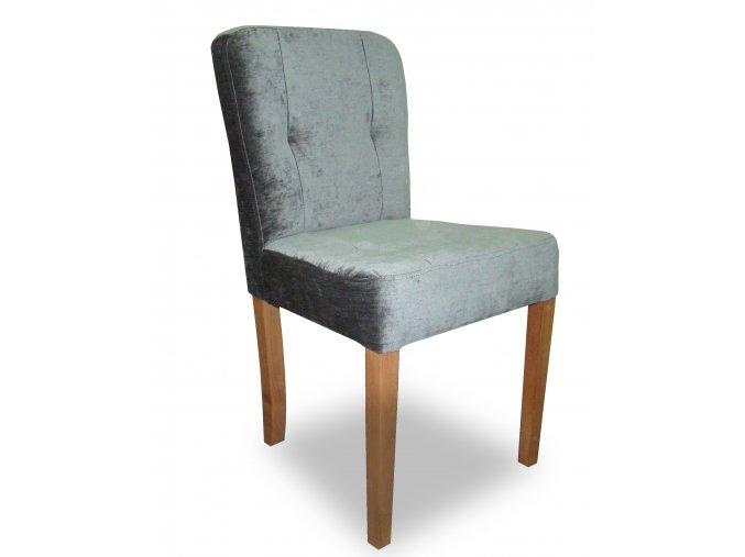 Designová židle Charm, šedý samet