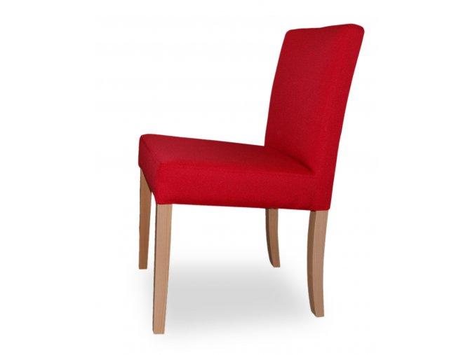 Designová židle Comforta se zeštíhleným sedákem, nízká, červená