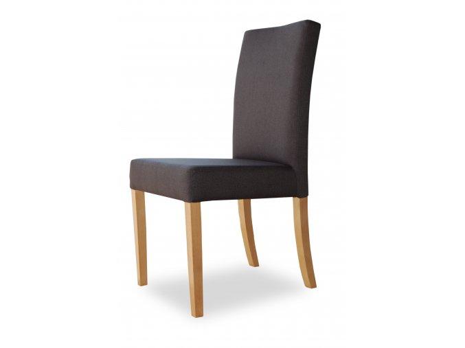 Designová židle Comforta se zeštíhleným sedákem, šedá látka