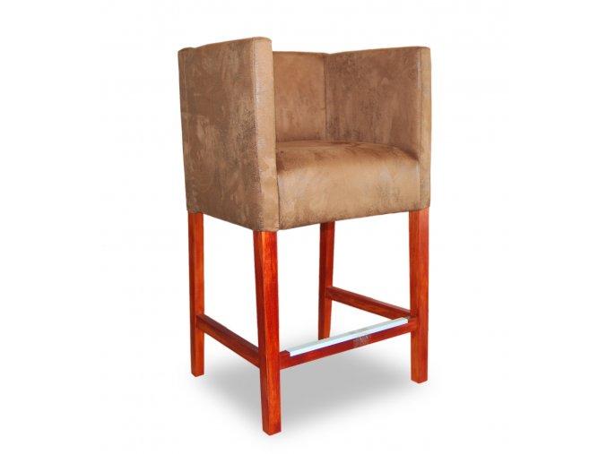 Designové barové křeslo se zesíleným sedákem, béžové