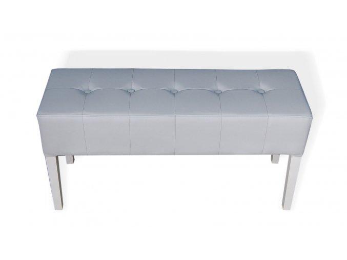 Designový prošitý dlouhý taburet s knoflíky