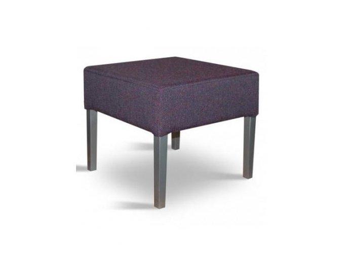 Designový taburet se zesíleným sedákem, fialový
