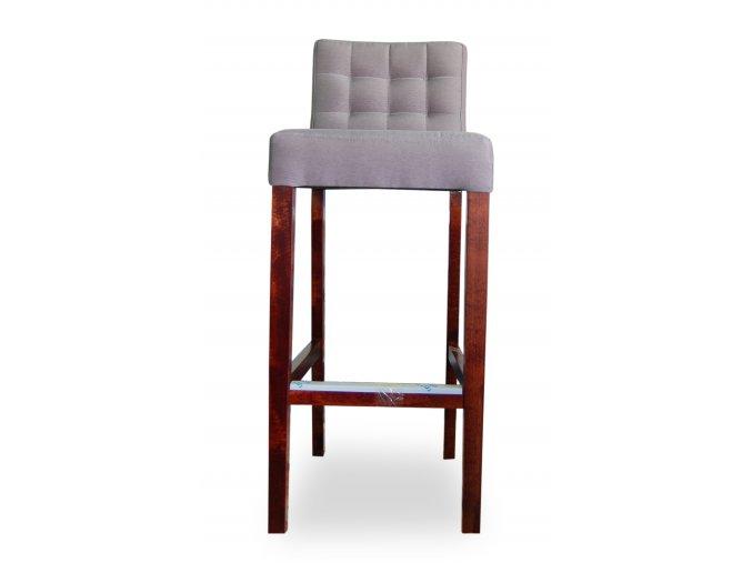 Dřevěná prošitá barová židle