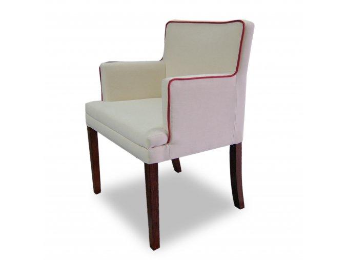 Luxusní křeslo Throne s lemováním, dřevěné, čalouněné