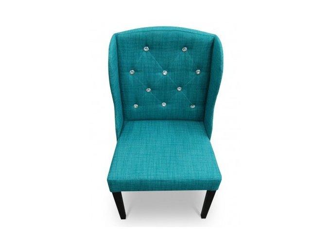 Luxusní prošitá židle Ears s kamínky, jídelní, zámecká