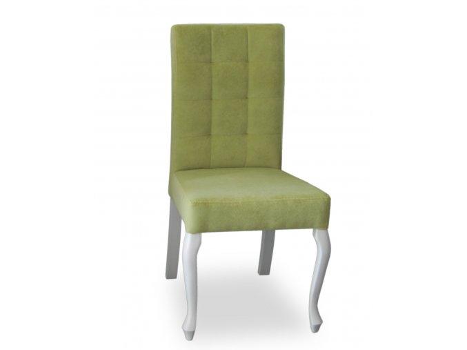 Luxusní prošitá židle Král Slunce, restaurační, zelená