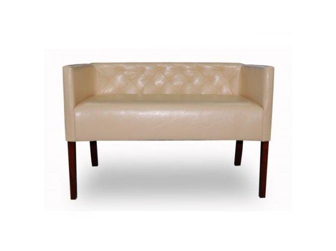 Moderní prošitá lavice se zesíleným sedákem, nízká klubová