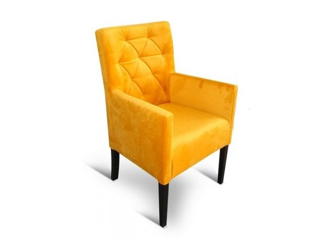 Moderní prošité křeslo se zesíleným sedákem