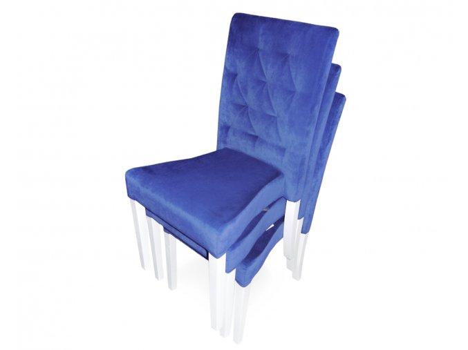 Moderní stohovatelná prošitá židle Comforta, fialová