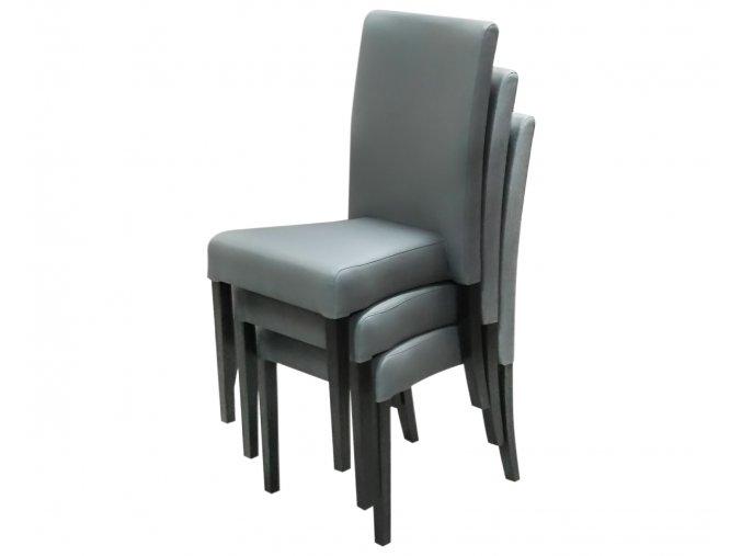 Moderní stohovatelná židle Comforta, šedá, vysoká