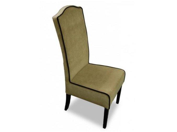 Moderní židle Comforta s lemováním, barokní opěradlo