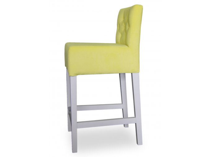 Pohodlná prošitá barová židle, žlutá