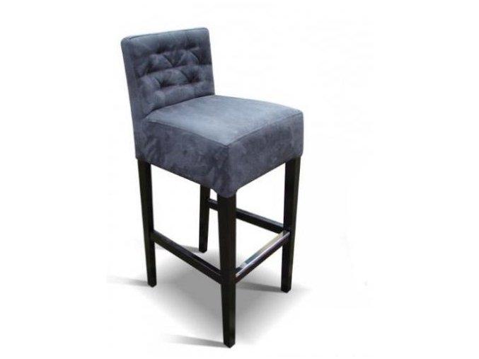 Pohodlná prošitá barová židle
