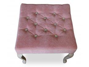 Stylový taburet Král Slunce prošitý kamínky