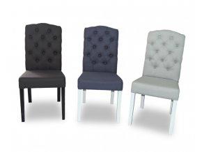 Designová židle East, prošitý opěrák chesterfield