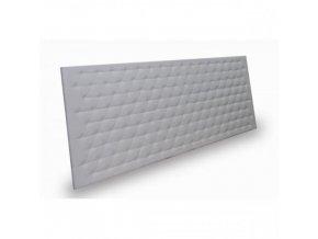 Prošívaný čalouněný panel, čelo postele