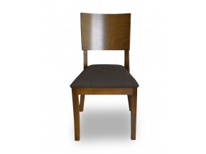 Designová židle Terra, dřevěná s čalouněným sedákem