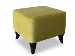 Luxusní taburet Ušák, žlutá barva