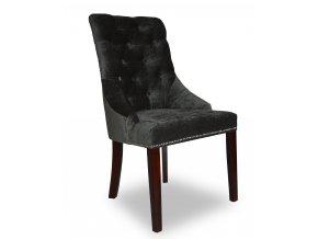 Luxusní židle Lady Sir England s připínáčky, černá