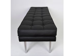 Designový dlouhý prošitý taburet Nixo