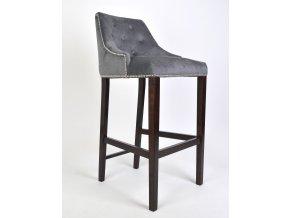 Luxusní prošitá barová židle Lady s připínáčky