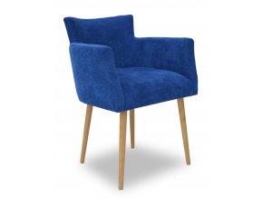 Designové křeslo Nomaco, klubové, modrá látka