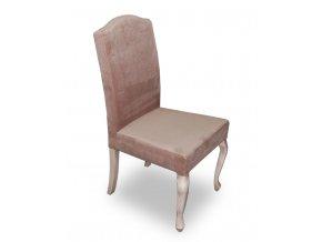 Luxusní židle Král Slunce, patinované barokní nohy