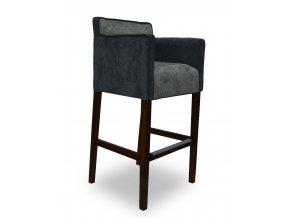 Designové barové křeslo se zesíleným sedákem, snížené područky