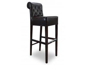 Pohodlná prošitá barová židle s knoflíky a opěradlem Roller