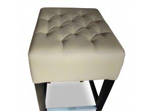 Pohodlná prošitá barová židle se zesíleným sedákem