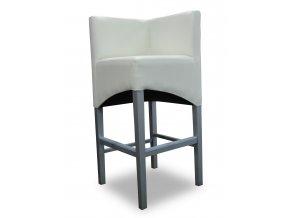Rohová barová židle se šikmým sedákem