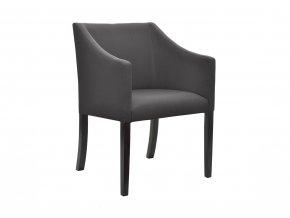 Designové křeslo Slide se zeštíhleným sedákem, tmavě šedé | Ressed