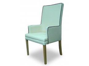 Luxusní křeslo Throne s lemováním a zeštíhleným sedákem