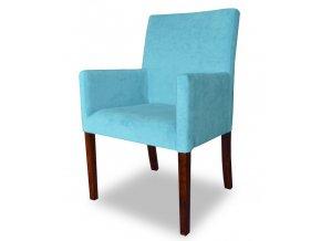 Designové křeslo se zeštíhleným sedákem, vhodné do hotelů