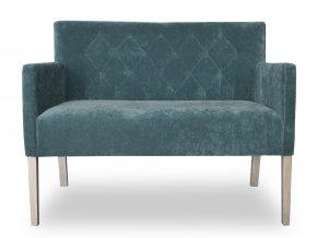 Moderní prošitá lavice se zesíleným sedákem, zelená