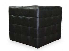 Luxusní prošitý taburet s plným sedákem (kostka)