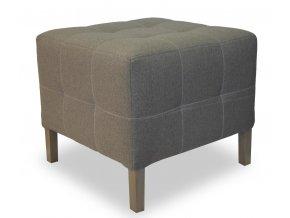 Luxusní prošitý taburet s plným sedákem, malý