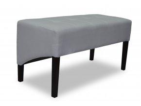 Moderní dlouhý prošitý taburet se šikmým sedákem