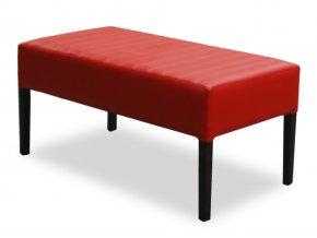 Designový prošitý dlouhý taburet, pohodlný