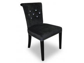 Designová židle Argor s kamínky, klepadlem a připínáčky